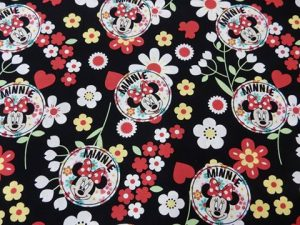 Minnie Mouse floral - Black