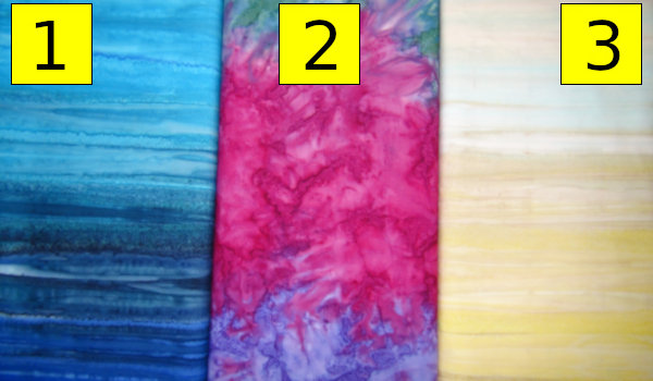 Batik Colours - 1 Blue, 2 Pink, 3 Light (Pastel)