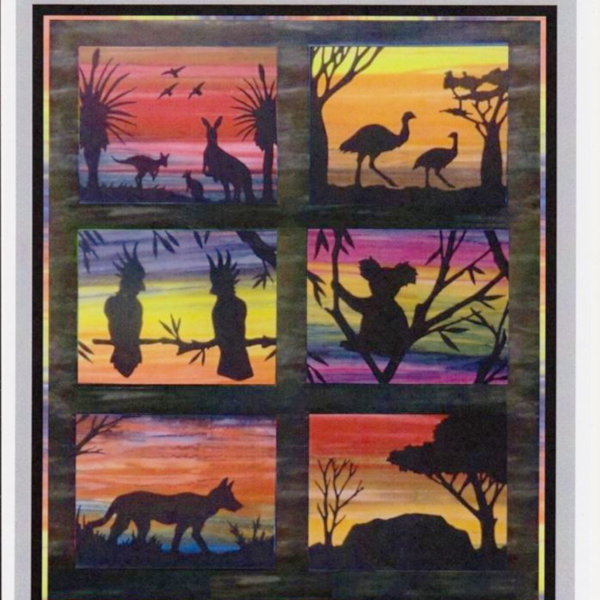 Beautiful Australian Silhouette Quilt Kit
