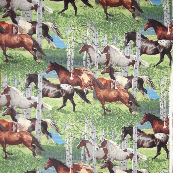 Horses All Over - Wild Wings - CP67475