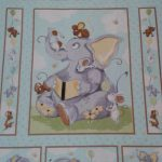 Susybee range - Elephants and Mice - Panel 90cmx110cm